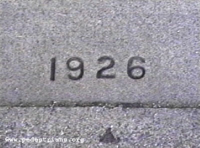 Photo - sidewalk date stamp 1926