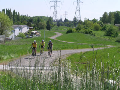 Bicyclists on Chief Sealth Trail.